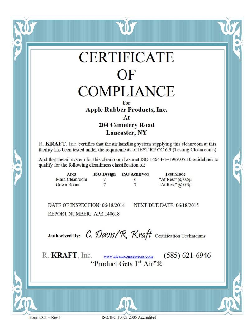 certificateofcompliance Official Apple Rubber Blog